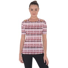 Reddish Dots Short Sleeve Top