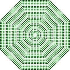 Greenish Dots Folding Umbrellas