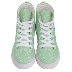 Mint Green White Music Women s Hi Top Skate Sneakers