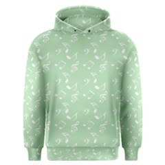Mint Green White Music Men s Overhead Hoodie