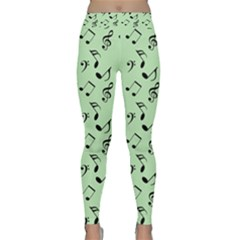 Mint Green Music Classic Yoga Leggings