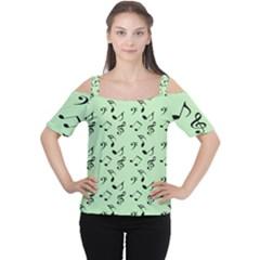 Mint Green Music Cutout Shoulder Tee
