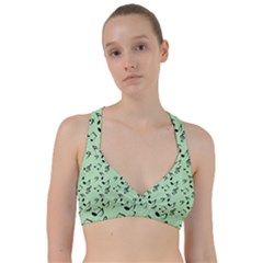 Mint Green Music Sweetheart Sports Bra