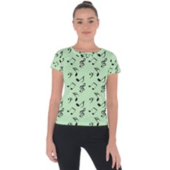 Mint Green Music Short Sleeve Sports Top