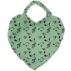 Mint Green Music Giant Heart Shaped Tote