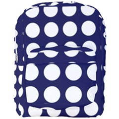 Big Dot Blue Full Print Backpack