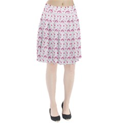Winter Pink Hat White Heart Snow Pleated Skirt