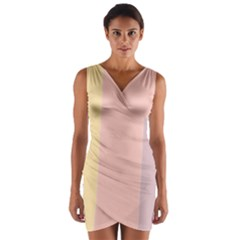 Ice Cream Lines Wrap Front Bodycon Dress