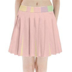 Ice Cream Lines Pleated Mini Skirt