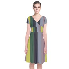 Sid Short Sleeve Front Wrap Dress