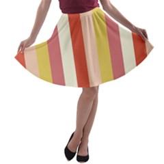 Candy Corn A Line Skater Skirt