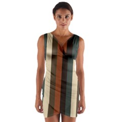 Young Nature Wrap Front Bodycon Dress
