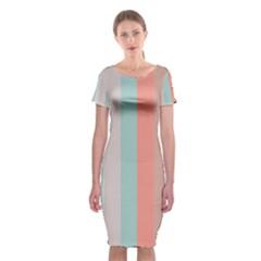 Seafoam Splash Classic Short Sleeve Midi Dress
