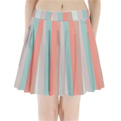 Seafoam Splash Pleated Mini Skirt