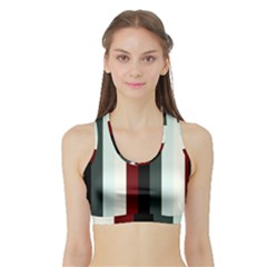 Sitting Sports Bra With Border