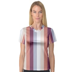 Grape Tapestry V Neck Sport Mesh Tee