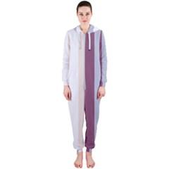 Grape Tapestry Hooded Jumpsuit (ladies)