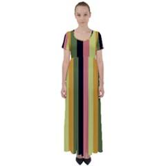 Afternoon High Waist Short Sleeve Maxi Dress