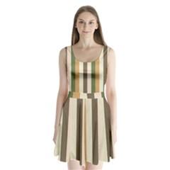 Earth Goddess Split Back Mini Dress