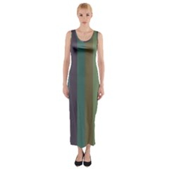 Rainy Woods Fitted Maxi Dress