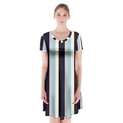 Sailor Short Sleeve V Neck Flare Dress