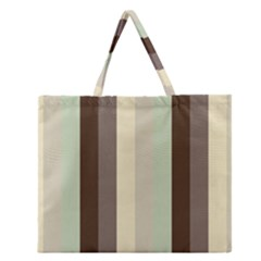 Mint Sunday Zipper Large Tote Bag