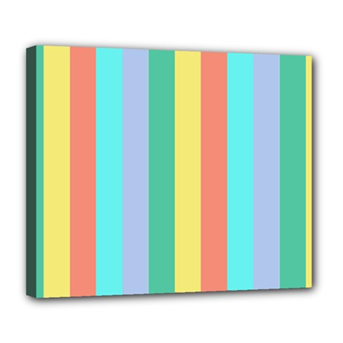 Summer Stripes Deluxe Canvas 24  X 20