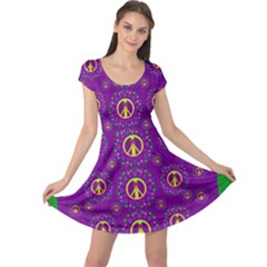Peace Be With Us In Love And Understanding Cap Sleeve Dress