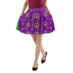 Peace Be With Us In Love And Understanding A Line Pocket Skirt