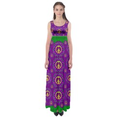 Peace Be With Us In Love And Understanding Empire Waist Maxi Dress
