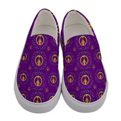 Peace Be With Us In Love And Understanding Women s Canvas Slip Ons