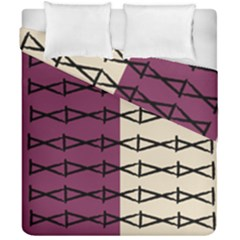 Purple Tan Stitch Duvet Cover Double Side (california King Size)