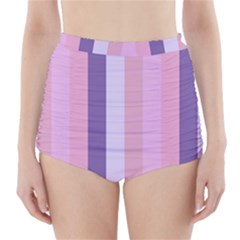 Violet Stars High Waisted Bikini Bottoms
