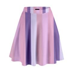 Violet Stars High Waist Skirt
