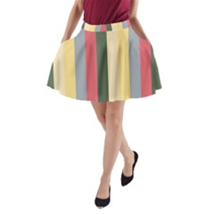 Summer Rose A Line Pocket Skirt