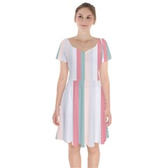 Heaven Goddess Short Sleeve Bardot Dress