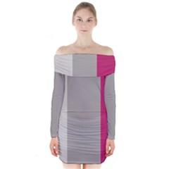 Laura Lines Long Sleeve Off Shoulder Dress
