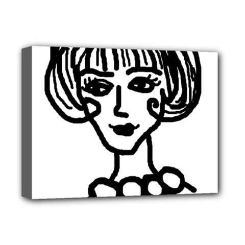 20s Girl Deluxe Canvas 16  X 12