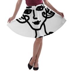 20s Girl A Line Skater Skirt