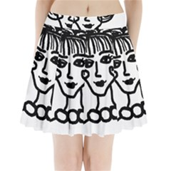 20s Girl Pleated Mini Skirt