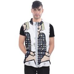 Girl Sitting Men s Puffer Vest