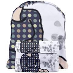 Girl Sitting Giant Full Print Backpack
