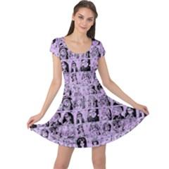 Lilac Yearbok Cap Sleeve Dress