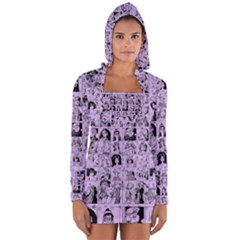 Lilac Yearbok Long Sleeve Hooded T Shirt