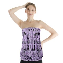 Lilac Yearbok Strapless Top