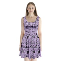 Lilac Yearbok Split Back Mini Dress
