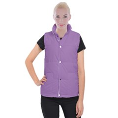Another Purple Women s Button Up Puffer Vest