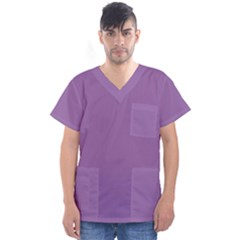 Another Purple Men s V Neck Scrub Top