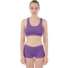 Another Purple Work It Out Sports Bra Set