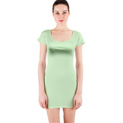 Baby Green Short Sleeve Bodycon Dress